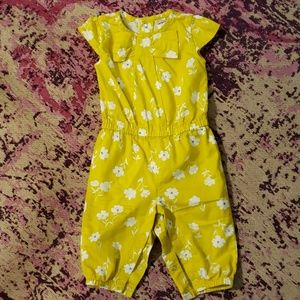 Carter's 6 month yellow romper